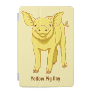 Yellow Pig Day July 17 Cute Piglet iPad Mini Cover
