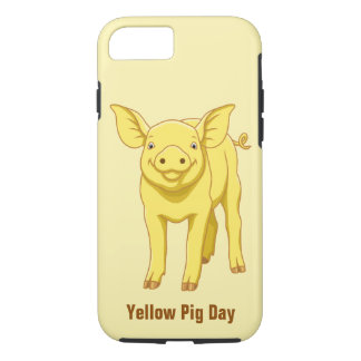 Yellow Pig Day July 17 Cute Piglet iPhone 8/7 Case