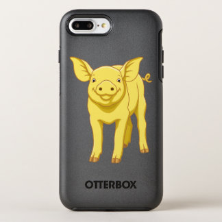 Yellow Pig Day July 17 Cute Piglet OtterBox Symmetry iPhone 8 Plus/7 Plus Case