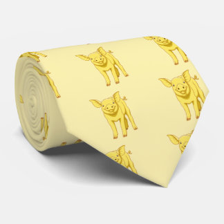 Yellow Pig Day July 17 Cute Piglet Tie