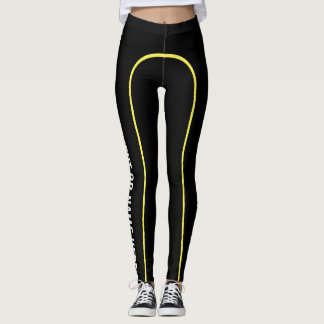 Yellow Pin Stripe Customisable Named Leggings