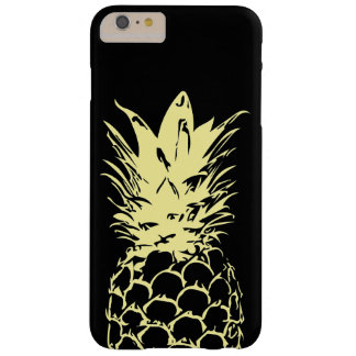Yellow Pineapple Design black iPhone Case