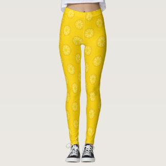Yellow Pineapple Slices Pattern Leggings