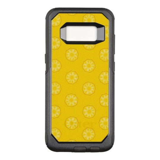 Yellow Pineapple Slices Pattern OtterBox Commuter Samsung Galaxy S8 Case