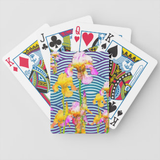 Yellow-Pink Iris Water Garden Bicycle Playing Cards