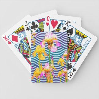 Yellow-Pink Iris Water Garden Poker Deck