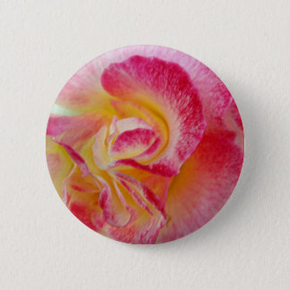 yellow pink petals 2 inch round button