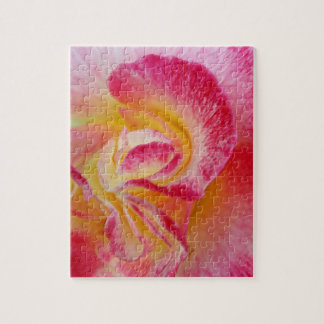 yellow pink petals jigsaw puzzle