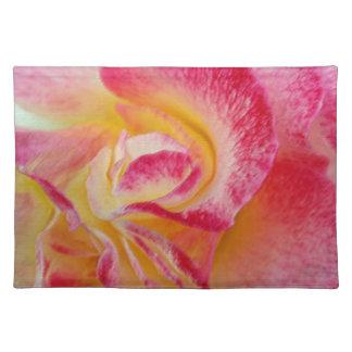 yellow pink petals placemat