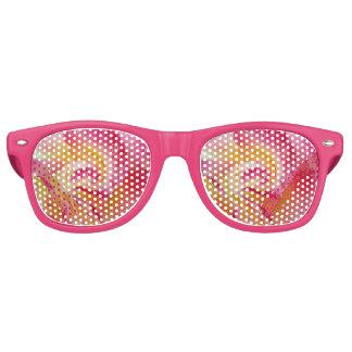 yellow pink petals retro sunglasses