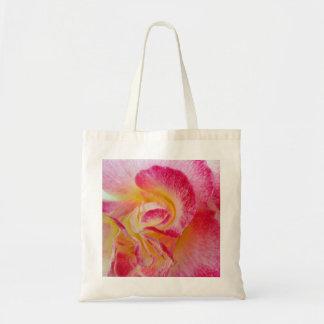 yellow pink petals tote bag