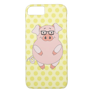 Yellow & Pink Polkadot Piggy iPhone 8/7 Case