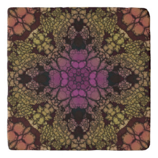 Yellow Pink Purple Abstract Trivet