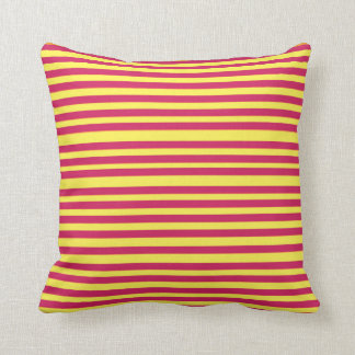 Yellow & Pink Stripes Summer Mood Cushion