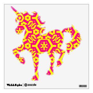 Yellow Pink Unicorn 4Miranda Wall Sticker