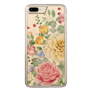 Yellow Pink & White Roses Bouquet Design Carved iPhone 8 Plus/7 Plus Case