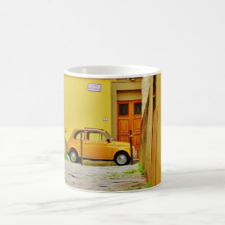 Yellow Pistoia Fiat in a Tight Alley, Mug