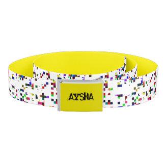Yellow Pixel Personalized Belt