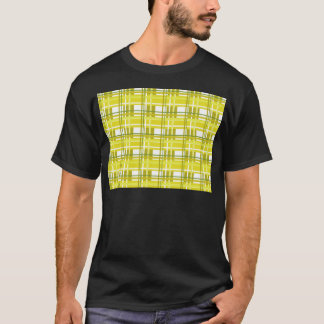Yellow plaid pattern T-Shirt