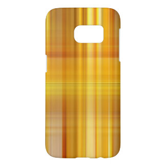 Yellow Plaid Samsung Galaxy S7 Case
