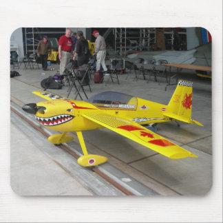 Yellow Plane Mouse Pad