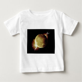 yellow planet 3d illustration in universe baby T-Shirt