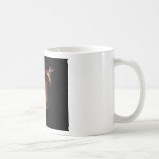 yellow planet 3d illustration in universe coffee mug