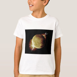 yellow planet 3d illustration in universe T-Shirt