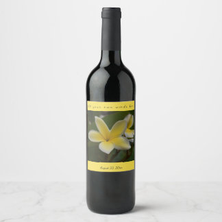 Yellow Plumeria Wine Label