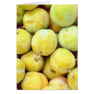 Yellow plums macro card