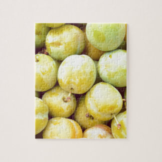 Yellow plums macro jigsaw puzzle