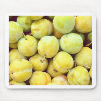 Yellow plums macro mouse pad