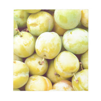 Yellow plums macro notepad