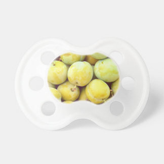 Yellow plums macro pacifier