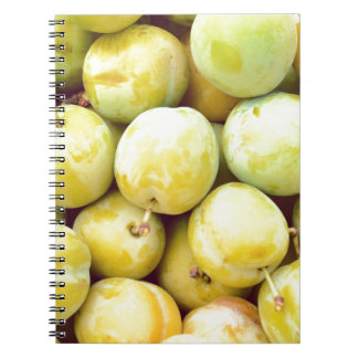 Yellow plums macro spiral notebook