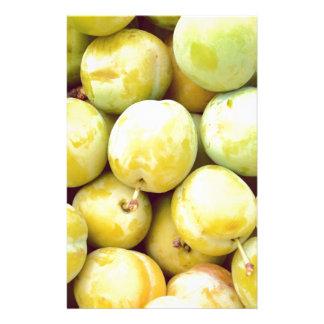 Yellow plums macro stationery
