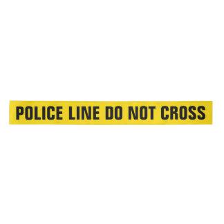 Yellow 'POLICE LINE' Satin Ribbon