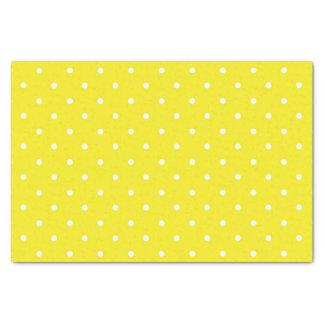 Yellow Polka Dot Design Tissue Paper