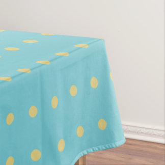 Yellow Polka Dot on Blue Changeable) Background Tablecloth
