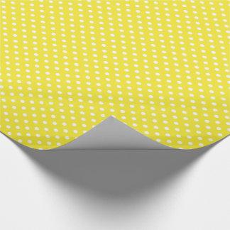 Yellow Polka Dot Pattern Gift Wrapping Paper