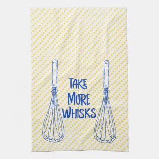 Yellow Polka Dot: Take More Whisks Kitchen Towel