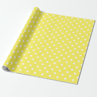 Yellow Polka Dot Wrapping Paper