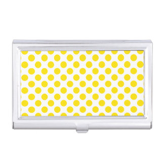 Yellow Polka Dots Business Card Holders