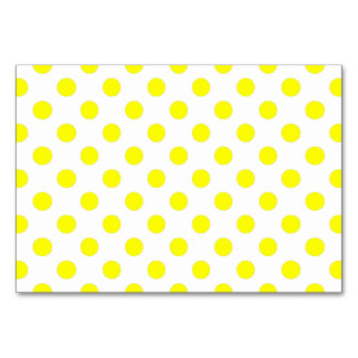 Yellow Polka Dots Card