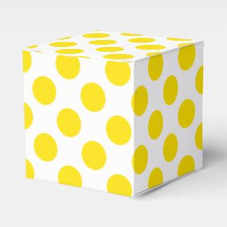 Yellow Polka Dots Favor Box