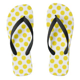 Yellow Polka Dots Flip Flops