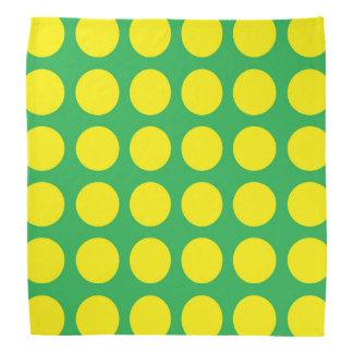 Yellow Polka Dots Green Head Kerchiefs
