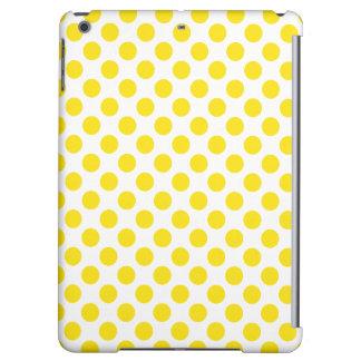 Yellow Polka Dots iPad Air Cover