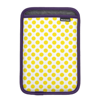 Yellow Polka Dots iPad Mini Sleeve