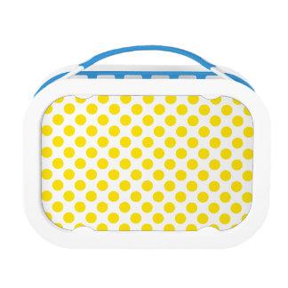 Yellow Polka Dots Lunch Box